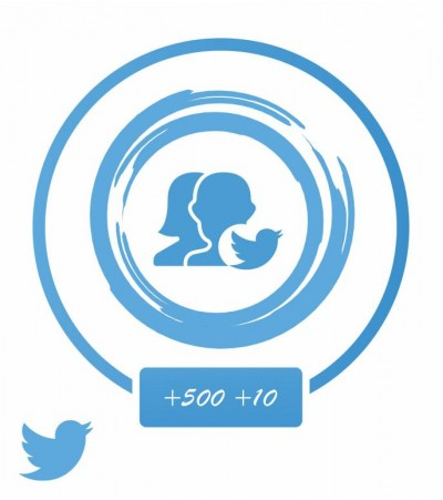 Аккаунт Twitter +500 твитов и 10 подписчиков