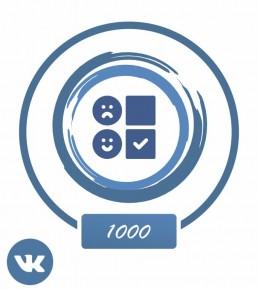 Заказать: +1000 голосов в опрос Вконтакте
